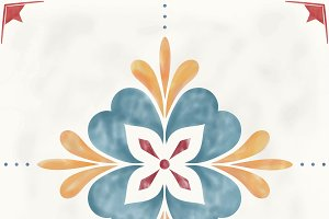 Illustration tiles textured patter