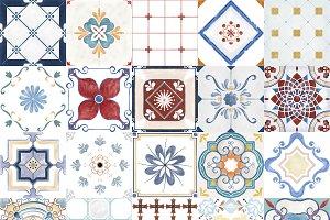 Illustration of textured patterns