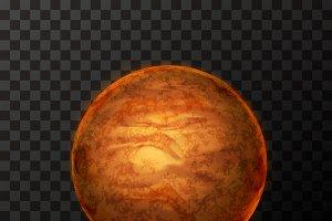 Bright realistic Mercury planet
