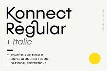 Konnect Regular + Italic Fonts