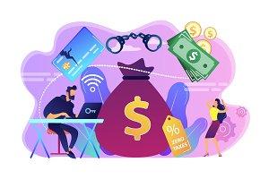 Financial crimes concept vector
