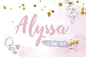 Alyssa Font Duo: Script & Sans Serif