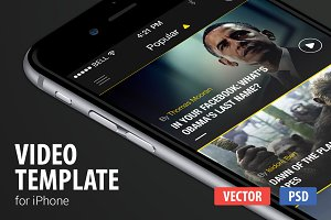 Video App Template for iPhone
