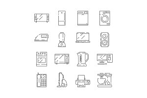 Home appliances icon. Electrical