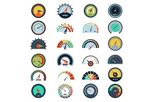 Speedometer symbols. Level fuel