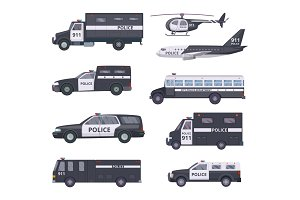 Police cars. Vehicle protection