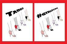 Tango Legs Illustration