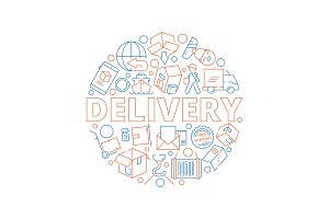 Logistic concept. Global delivery
