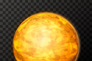 Bright realistic Venus planet