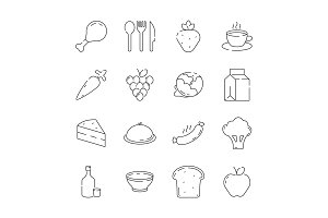 Food icon. Cuisine products menu and