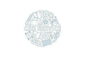 Car service background. Mechanical