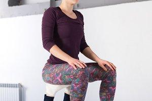 Theme sports health acrobatic yoga