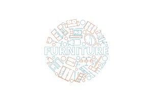 Furniture background. Interior tools