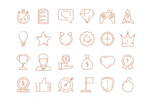 Gamification symbols. Business
