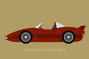 convertible car fully editable