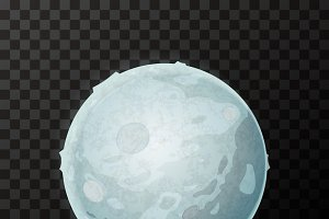 Bright realistic Moon with texture