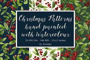 Watercolor pattern,christmas