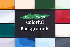 Hand Drawn Colorful Backgrounds