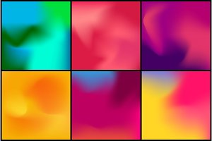 Abstract blurred gradient mesh