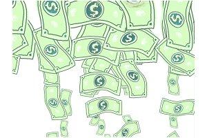 Animation Dollar Notes or Bills