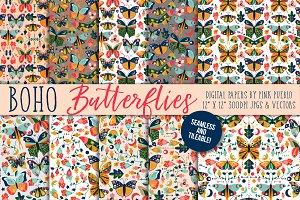 Vintage Style Butterfly Patterns