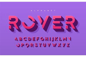 Stylized 3d uppercase letters