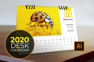 Desk Calendar for 2020 V5