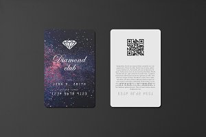85x55 Portrait Card Mockup
