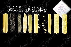 Gold brush strokes clipart
