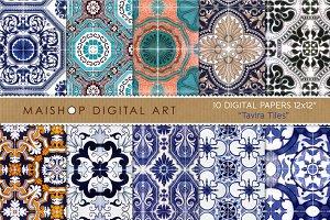 Digital Paper - Tavira Tiles