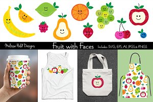 Fruit with Faces Graphics & Pattern