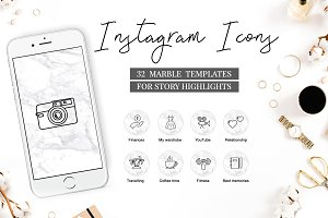 Instagram Highlight Covers MARBLE