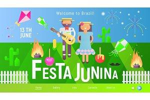 Festa Junina Landing Page