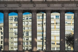 Doric columns in the city II
