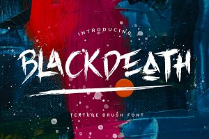 BLACKDEATH Brush Font