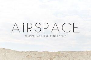 AIRSPACE | Minimal Sans Serif Font