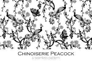 Chinoiserie Peacock - Seamless