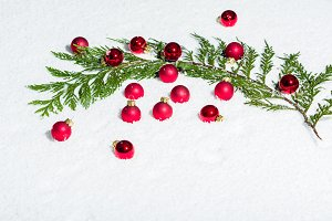 Red glass ball decorations