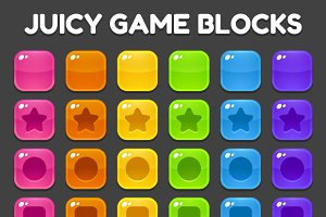 Match 3 Game Blocks