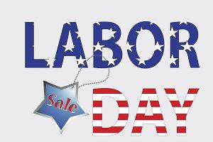 American Labor Day Sale Vector
