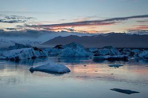 Jokulsarlon, glacier lagoon in