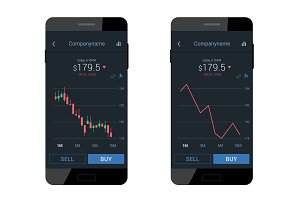 Trading mobile interface