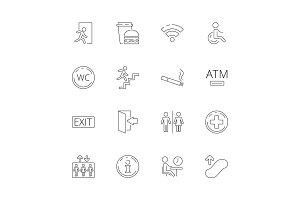 Public navigate symbols. Toilet