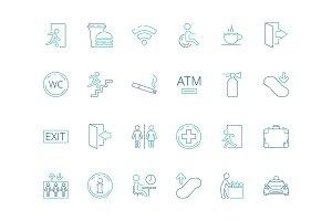 Public symbols. Navigate pictogram