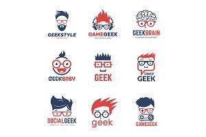 Geek logo. Business identity of