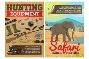 Hunting ammo, African safari animals