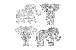 Indian elephant decoration. Animal