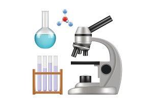 Science equipment. Microscope