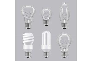 Realistic bulbs. Lighting