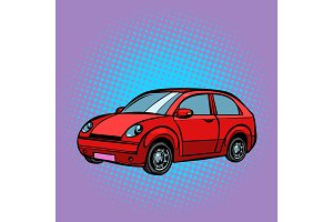 red car, road transport